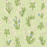 Seamless pattern. Cute leaves in a cartoon style Royalty Free Stock Photos