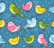 Seamless pattern with cute birds. Seamless pattern with cute little birds Royalty Free Stock Image