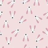 Seamless pattern with cute little bunny Royalty Free Stock Photography