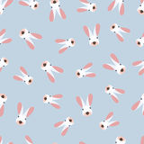 Seamless pattern with cute little bunny Royalty Free Stock Images