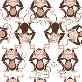 Seamless pattern with cute monkeys. Kids  background. Royalty Free Stock Images
