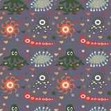 Seamless  pattern with cute monsters. This is file of EPS8 format Royalty Free Stock Photos