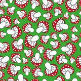 Seamless pattern cute mushrooms Royalty Free Stock Photos