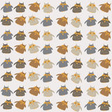 Seamless pattern with cute owls Stock Images