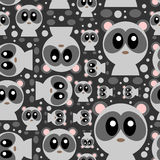 Seamless pattern with cute pandas Royalty Free Stock Photography