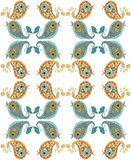 Seamless pattern with cute patchwork birds. Stock Photography
