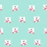 Seamless Pattern. Cute Polar Bear. Hand Drawn Stock Images