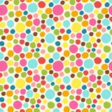 Seamless pattern. Cute polka dot texture. Hand drawn doodle. For your decoration Stock Photos