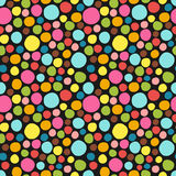 Seamless pattern. Cute polka dot texture. Hand drawn doodle. For your decoration Royalty Free Stock Images