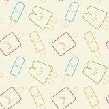 Seamless Pattern - Cute Popsicles Stock Photos