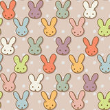 Seamless pattern with cute rabbits. Colorful bunny background. Royalty Free Stock Photo