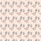 Seamless pattern with cute robots Royalty Free Stock Photography