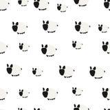 Seamless Pattern. Cute Sheep. Seamless Pattern. Hand Drawn. Cute Sheep. Background Design Royalty Free Stock Photography