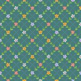 Seamless pattern with flowers and leaves Stock Photos