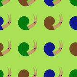 Seamless pattern with cute snail. Vector illustration. royalty free illustration
