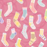 Seamless pattern with cute socks Royalty Free Stock Images