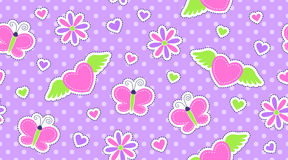Seamless pattern of cute stickers Royalty Free Stock Images