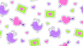 Seamless pattern of cute stickers Royalty Free Stock Photo