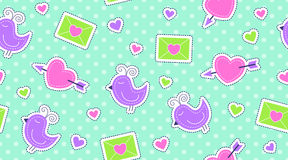 Seamless pattern of cute stickers Royalty Free Stock Photography