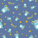 Seamless pattern with cute yeti. Vector illustration Royalty Free Stock Image