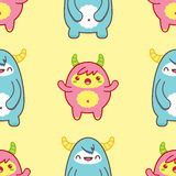 Seamless pattern with cute yeti. Vector illustration Stock Image