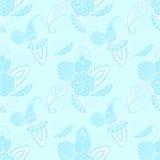 Seamless pattern on cyan background Stock Photo