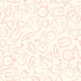 Seamless pattern with cycling attributes Stock Photos