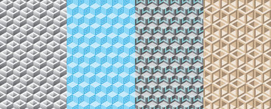 Seamless pattern 3D box Royalty Free Stock Photography