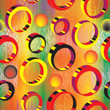 Seamless pattern with 3d colorful rings Royalty Free Stock Photography