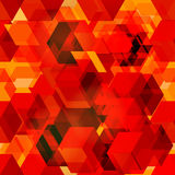 Seamless pattern of 3d cubes. Royalty Free Stock Photo