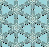 Seamless pattern with 3d effect Royalty Free Stock Photography