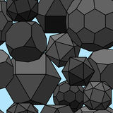 Seamless pattern 3d geometric shapes. Stock Photos