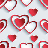 Seamless pattern with 3d hearts for Day Valentine Royalty Free Stock Photo