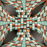 Seamless pattern with 3D ribbon consisting. Of tiles Stock Image