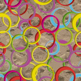 Seamless pattern with 3d rings Stock Photography