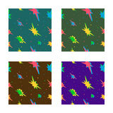 Seamless pattern with 3d stars Royalty Free Stock Images