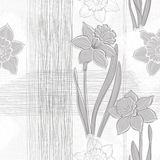 Seamless pattern with daffodils. Hand-drawn  illustration. Royalty Free Stock Photography