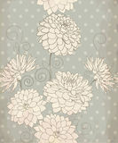 Seamless pattern with dahlia flower Stock Photos