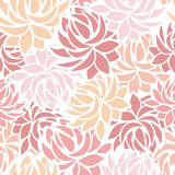 Seamless pattern with dahlia flowers. Stock Photography