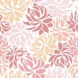 Seamless pattern with dahlia flowers. Seamless pattern pastel abstract dahlia flowers Stock Photography