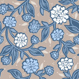 Seamless pattern with dahlia Stock Images