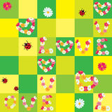 Seamless pattern with Daisies Hearts Royalty Free Stock Images