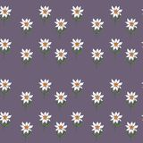 Seamless pattern with a flowers and leaves Royalty Free Stock Photos