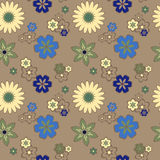 Seamless pattern with daisies Royalty Free Stock Images