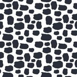 Seamless pattern dalmation and cow skin in black and white background. Animal fur skin texture pattern. Camouflage background royalty free illustration