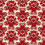 Seamless pattern damask flower red  Royalty Free Stock Photography