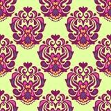 Seamless Pattern Damask Motif Stock Photo