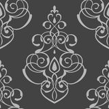 Seamless pattern damask ornament Stock Images