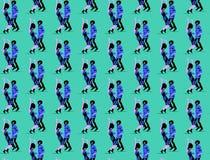 Seamless pattern dancing  funk couple. Seamless pattern dancing funk couple. Party time Stock Photography