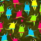 Seamless pattern of dancing girls. Royalty Free Stock Image